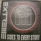EXTREME sew-on PATCH 3 Sides to Every Story nuno moc VINTAGE