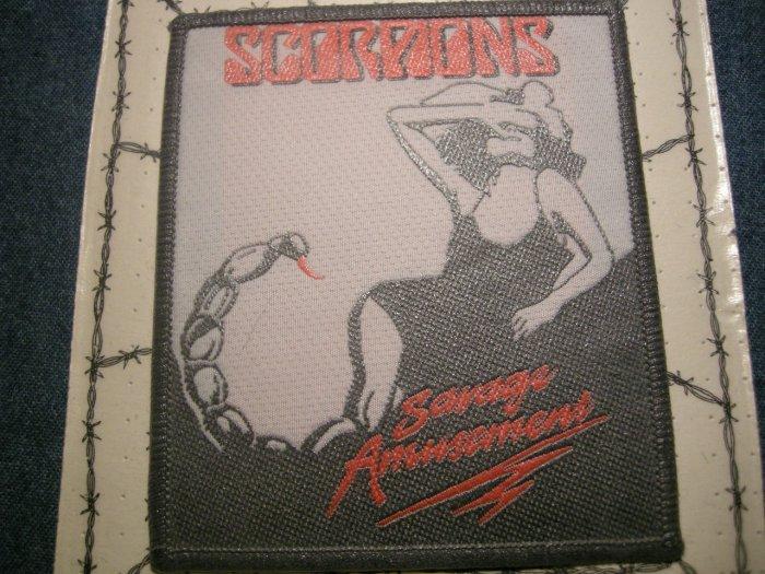 SCORPIONS sew-on PATCH Savage Amusement album art moc VINTAGE