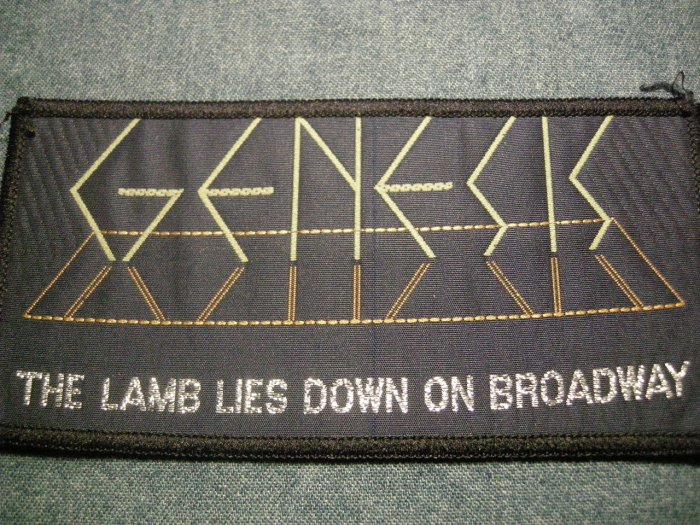 GENESIS sew-on PATCH the Lamb Lies Down on Broadway import VINTAGE