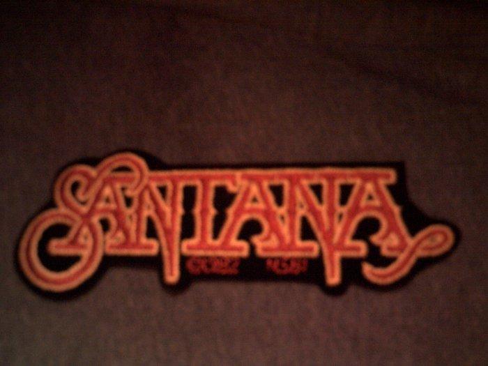 SANTANA iron-on PATCH red/yellow logo carlos VINTAGE