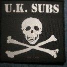 U.K. SUBS sew-on PATCH skull crossbones logo punk uk IMPORT