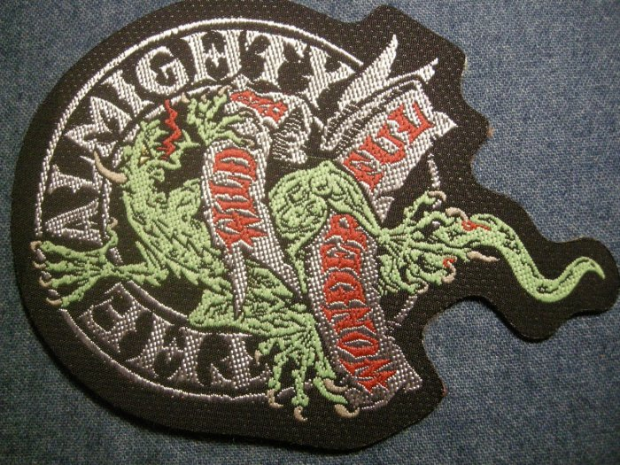 THE ALMIGHTY sew-on PATCH Wild & Wonderful lizard IMPORT