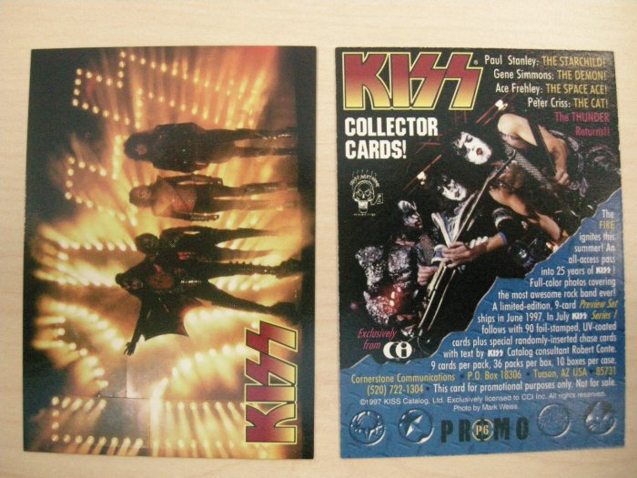 KISS TRADING CARD Series 1 P6 band pic logo PROMO