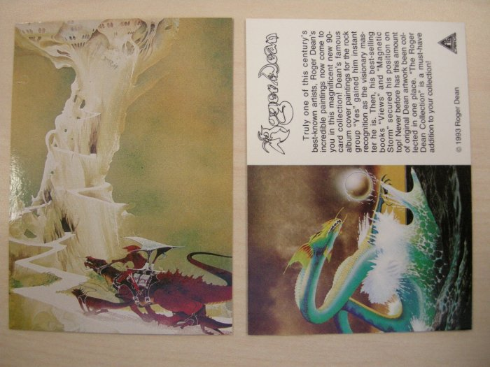 ROGER DEAN TRADING CARD yes budgie asia dragon art PROMO