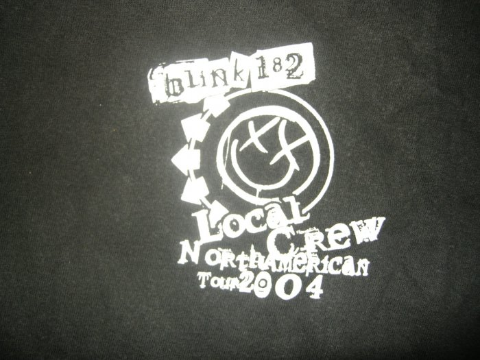BLINK 182 SHIRT North American Tour 2004 XL LOCAL CREW ONLY!
