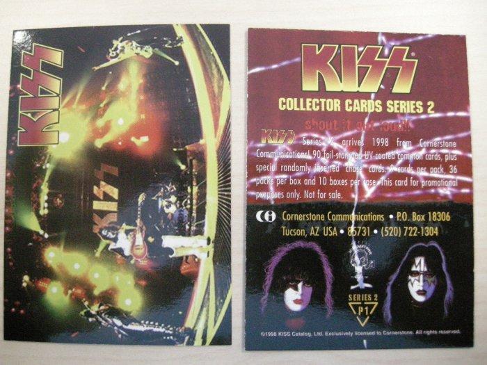 KISS TRADING CARD Series 2 P1 band pic PROMO