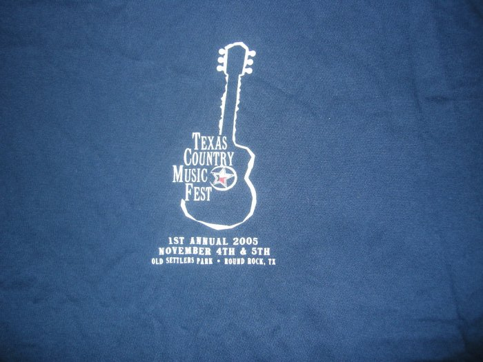 TEXAS COUNTRY MUSIC FEST SHIRT guitar Cooder Graw Roger Creager Cory Morrow 2005 M HTF!