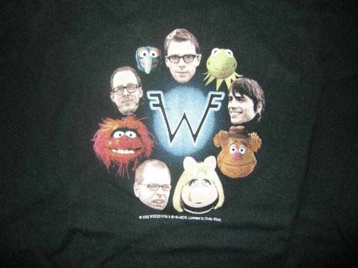 WEEZER SHIRT =w= logo muppets kermit girl/youth M