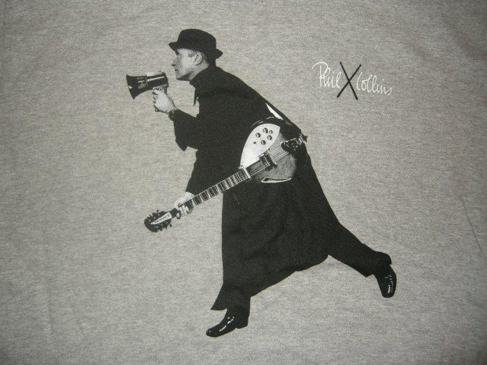 PHIL COLLINS TOUR SHIRT First Final Farewell x genesis megaphone XL!