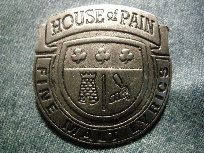 HOUSE OF PAIN METAL PIN Fine Malt Lyrics badge VINTAGE SALE