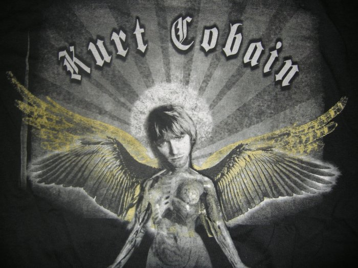 KURT COBAIN SHIRT in utero nirvana angel L NEW!