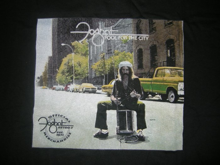 FOGHAT SHIRT Fool For the City XL NEW!