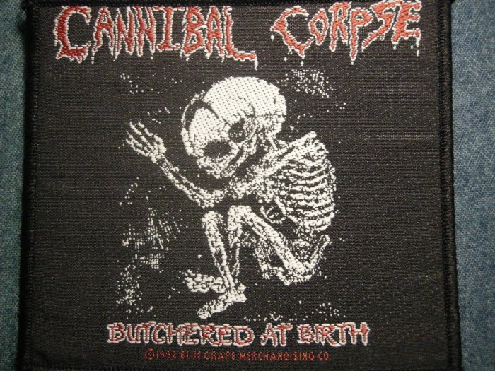 CANNIBAL CORPSE sew-on PATCH Butchered at Birth IMPORT
