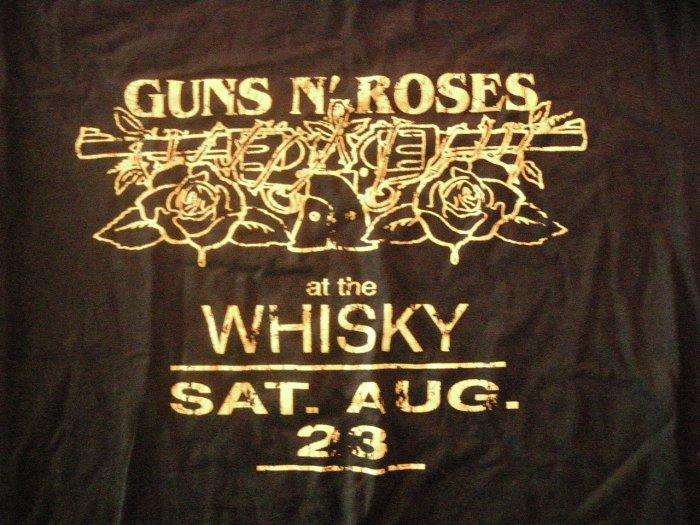 GUNS N ROSES SHIRT At the Whiskey Sat Aug 23 L