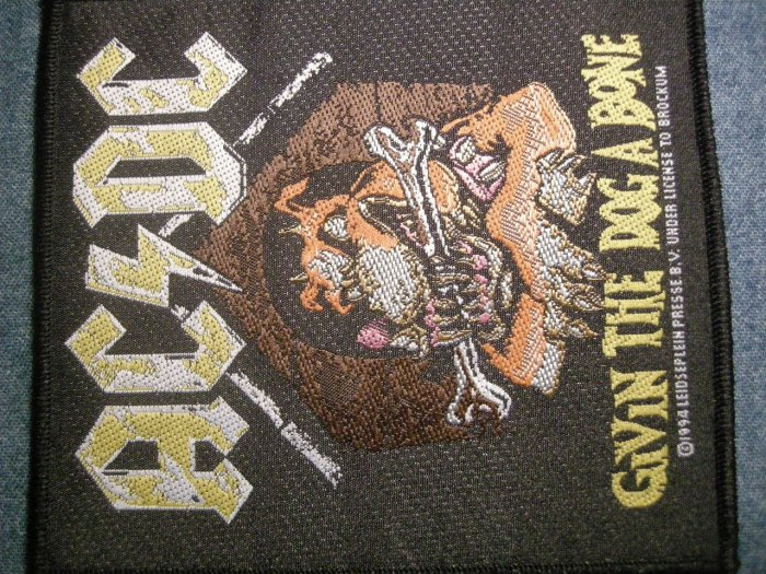 AC/DC sew-on PATCH Givin the Dog a Bone acdc IMPORT