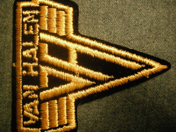 VAN HALEN iron-on PATCH yellow =vh= logo VINTAGE