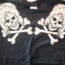 DIRTY PENNY SHIRT skulls logo glam M