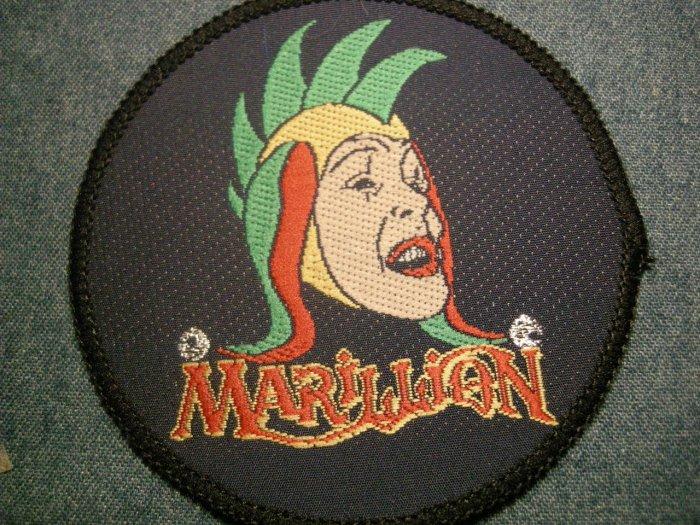 MARILLION sew-on PATCH jester logo VINTAGE