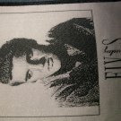 ELVIS PRESLEY sew-on PATCH silver import VINTAGE
