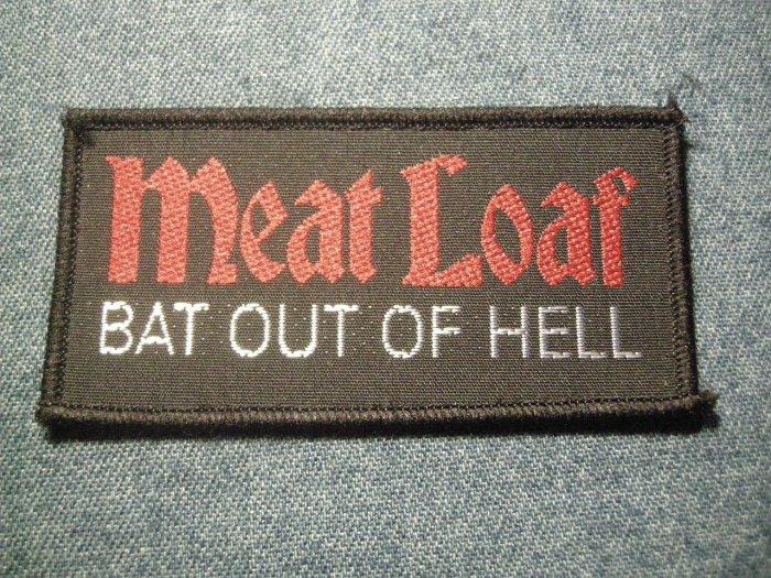 MEAT LOAF sew-on PATCH Bat Out of Hell logo meatloaf VINTAGE