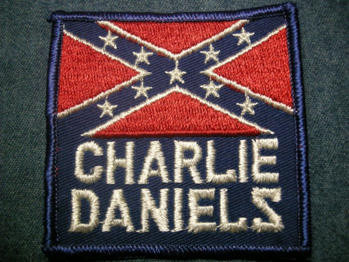CHARLIE DANIELS BAND sew-on PATCH rebel logo cdb country VINTAGE
