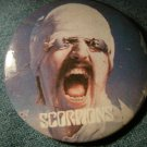 SCORPIONS PINBACK BUTTON Blackout album art VINTAGE 80s!