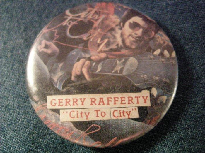 GERRY RAFFETY PINBACK BUTTON City to City VINTAGE