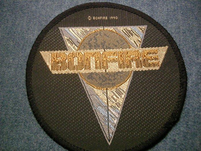BONFIRE sew-on PATCH round logo IMPORT