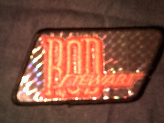 ROD STEWART iron-on PATCH prism classic logo faces VINTAGE 70s!
