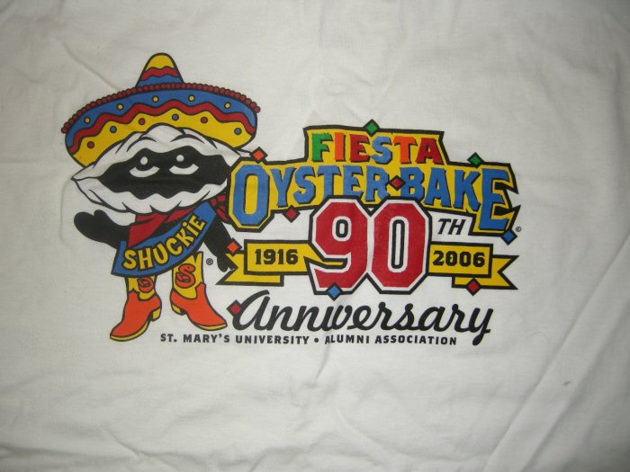 FIESTA OYSTER BAKE SHIRT 90th Anniversary 2006 texas XXL 2XL NEW!