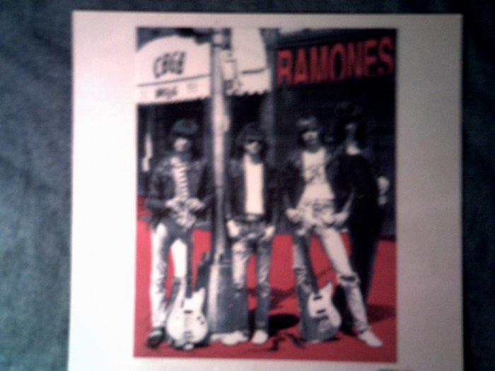 THE RAMONES STICKER group pic cbgb'c punk glossy VINTAGE