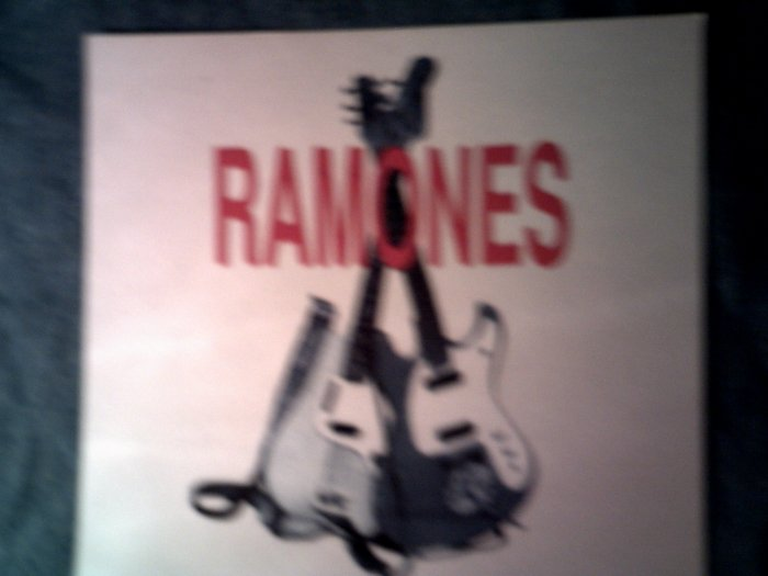 THE RAMONES STICKER guitars punk glossy VINTAGE