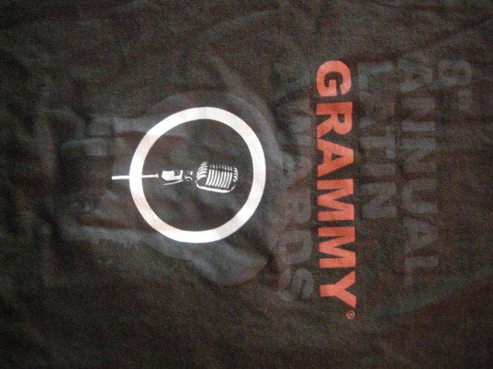 LATIN GRAMMYS SHIRT 8th Annual microphone M SALE
