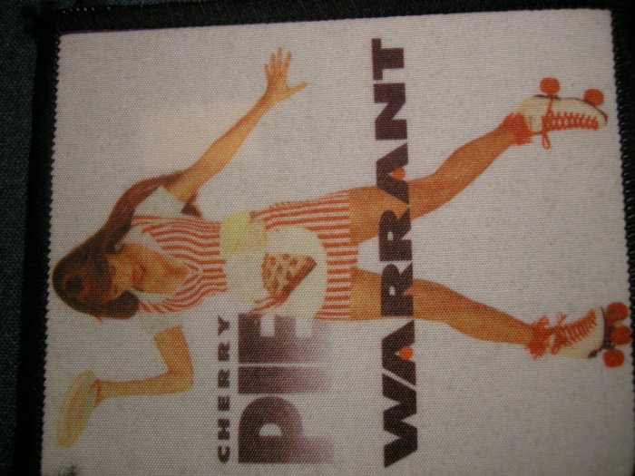 WARRANT sew-on PATCH Cherry Pie photo import VINTAGE