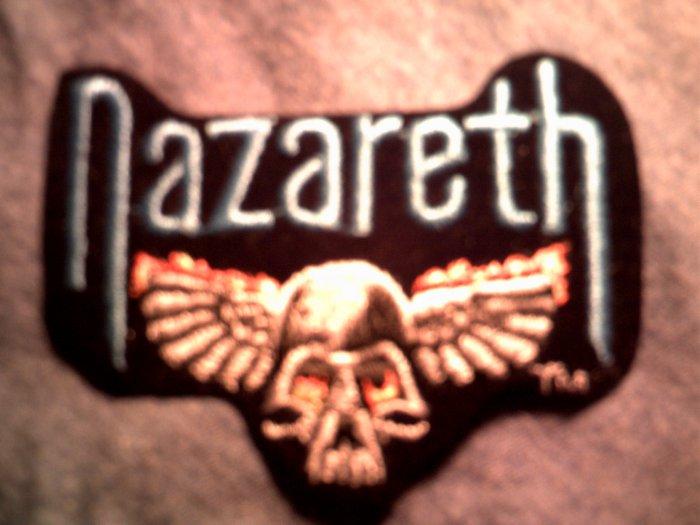 NAZARETH iron-on PATCH classic logo skull VINTAGE