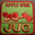 APPLE WINE JUG sew-on PATCH vintage SALE