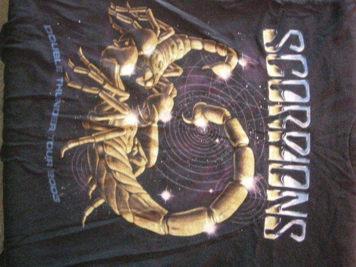 SCORPIONS SHIRT 2003 Double Thunder Tour M
