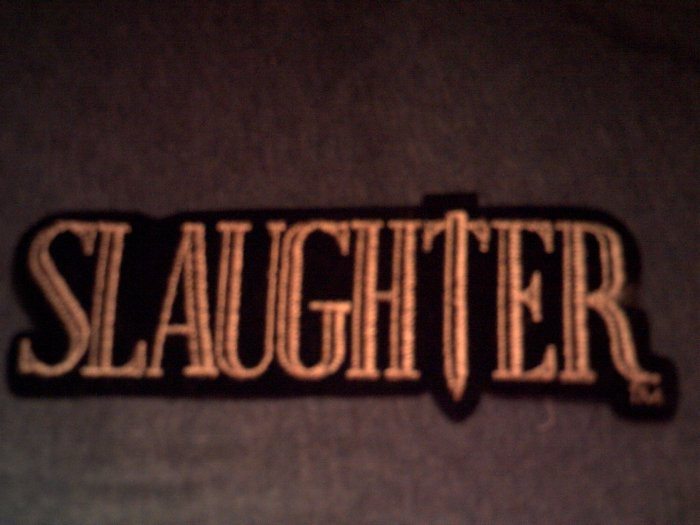 SLAUGHTER iron-on PATCH logo VINTAGE