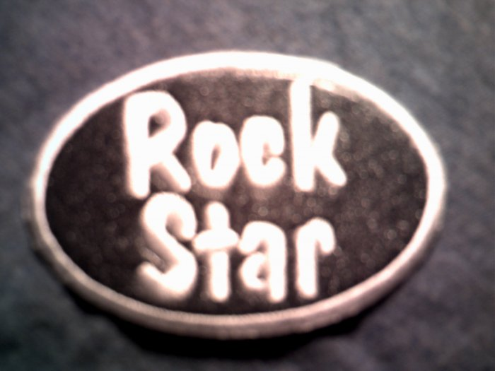 ROCK STAR iron-on PATCH logo hot topic NEW!