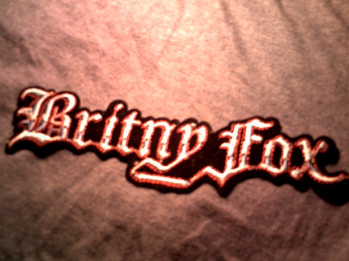 BRITNY FOX iron-on PATCH classic logo glam VINTAGE