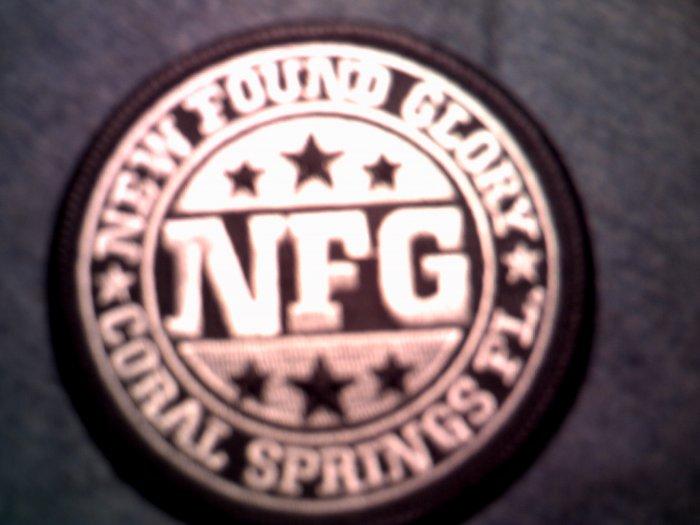 NEW FOUND GLORY iron-on PATCH round logo