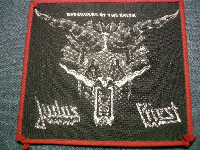 JUDAS PRIEST sew-on PATCH Defenders of the Faith dragon VINTAGE