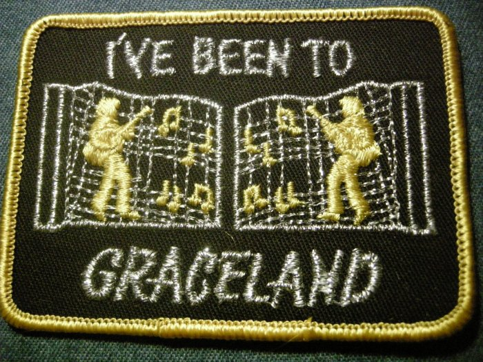 ELVIS PRESLEY sew-on PATCH I've Been To Graceland VINTAGE
