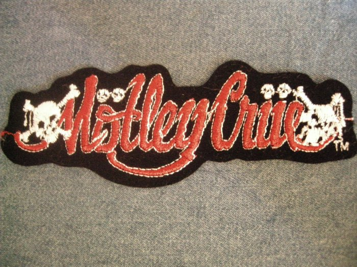 MOTLEY CRUE iron-on PATCH Dr Feelgood skulls logo VINTAGE