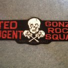 TED NUGENT iron-on PATCH Gonzo Rock Squad skull guitars VINTAGE HTF