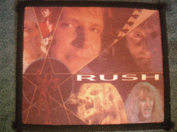 RUSH sew-on PATCH band pics photo import VINTAGE