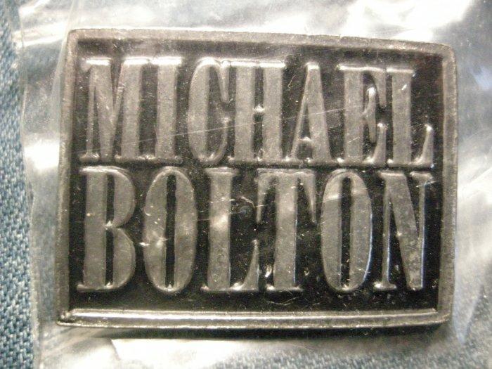 MICHAEL BOLTON METAL PIN logo badge IMPORT SALE