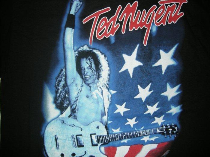 TED NUGENT SHIRT guitar flag licensed M NEW!