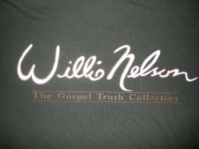 WILLIE NELSON SHIRT Peace in the Valley gospel truth collection L PROMO