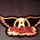AEROSMITH iron-on PATCH yellow wings logo VINTAGE
